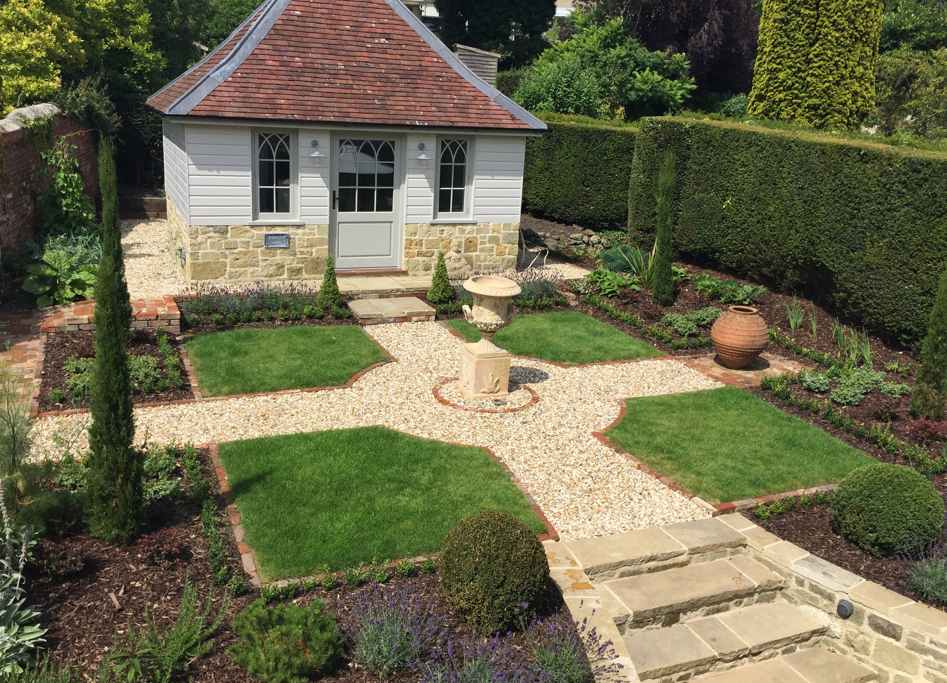The completed Small formal garden
