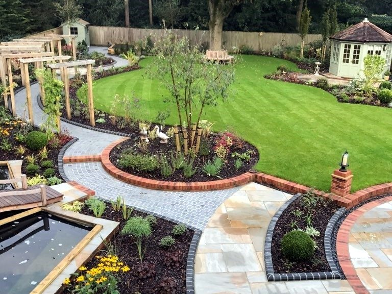 A garden of curves - completed garden image