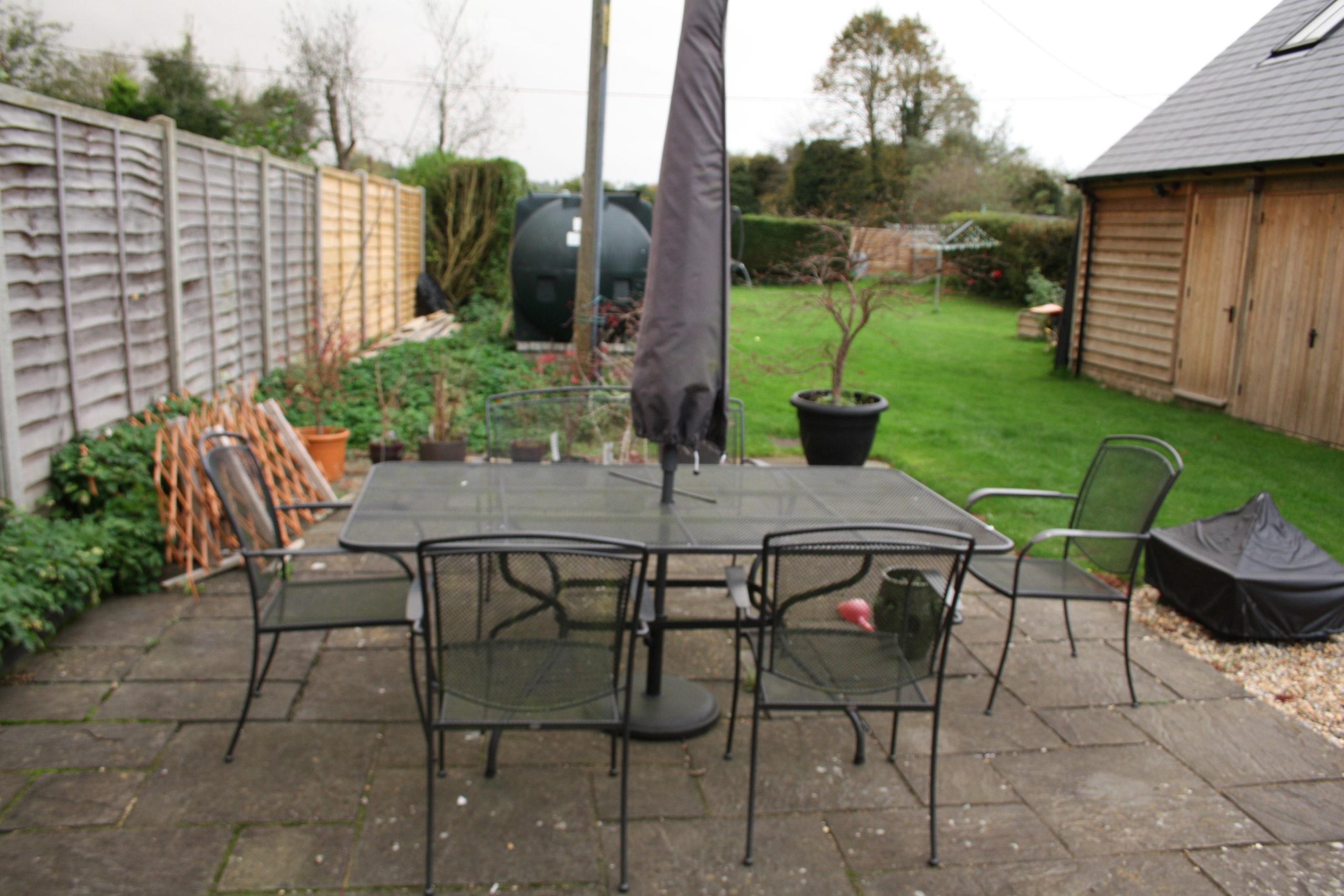 Family Garden - seating before